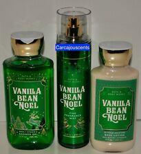 Bath & Body Works Vanilla Bean Noel Shower Gel, Body Lotion & Fragrance Mist