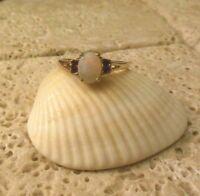 18k GE Natural OPAL Garnet Gemstone Ring A Great Gift Idea!