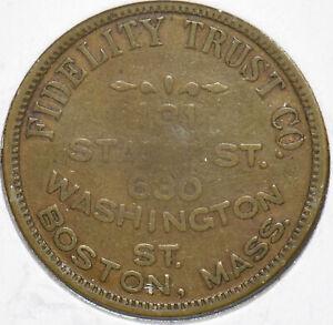 Boston, MA. 50 Cents Token Fidelity Trust Co. 293138 combine shipping