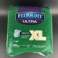 "FitRight Ultra Adult Briefs with Tabs, Heavy Absorbency, X-Large, 57""-66"""