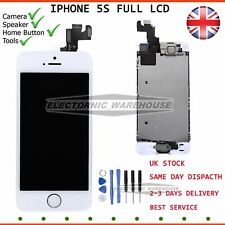 For iPhone SE 5S LCD Touch Screen Digitizer Home Button Camera Replacement White