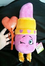 "Shopkins Lippy Lips Plush 15"" Just Play Valentine Red Heart Balloon NWT"