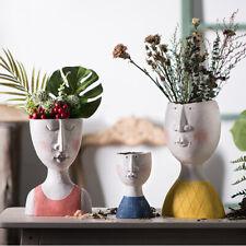 Nordic Art Portrait Flower Pot Vase Human Face Family Sculpture Plant Container
