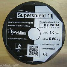 2 bobinas 0 500 kg alambre soldadura sin gas - 1 0mm Hyundai soldador E71t11