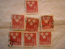 Sweden Stamp 1951 Scott 426 A56 Crowns 170 Kr Set of 7