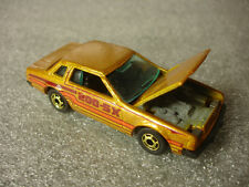 1981 Old Vtg Diecast Hot Wheels Mattel Datsun 200SX Yellow Stripped Toy Car