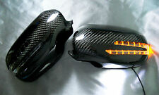 Mercedes Benz W211 E-Class 06~09 3K Real CARBON FIBER LED Side Mirror Cover