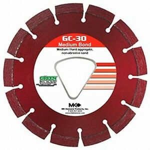 "MK Diamond Early Entry Diamond Blade 6 3/8"" Medium Hard Aggregate"