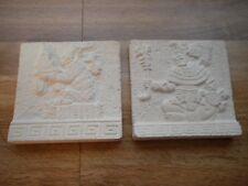 Mexican Artisan Handcrafted Novapiedra Stone Tiles Set (2)