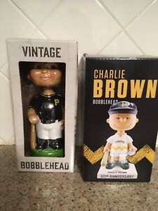 Pittsburgh Pirates Black Vintage And White Charlie Brown Bobblehead SGA 5/19/18