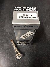 DENIS WICK 7 French Horn Mouthpiece-Neuf, non utilisé Plaqué Argent -