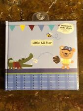 Cr Gibson Little All Star Baby Boy Record Message Keepsake Book Photo Album New