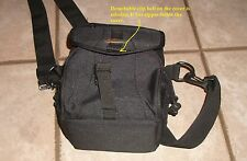 Lowepro Nylon Black Gray Shoulder Belt  Bag Ex120 Carry DSLR Camera Travel Case
