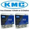 1 or 2Pak KMC X11 11 Speed Bike Chain Nickel fits Shimano SRAM Campagnolo X11.93