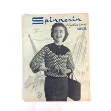 Spinnerin Nylaine Bulkies Vol 134 Chunky Knit Sweater Knitting Patterns Vtg 1956