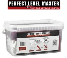 """1/32"""" T-Lock Tile Leveling System KIT - floor wall Perfect Level Master spacers"""