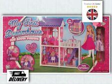 Nuevo Mi primer Casa de Ensueño Casa De Muñeca Barbie Conjunto de Juego Dormitorio De Niños balcón 80pc