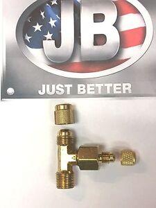 Vacuum Pump, J.B. Industries,  Pump Intake Hose Tee Caps 1/4 & 3/8, PR-5FF