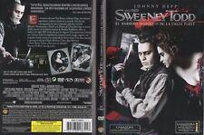 SWEENEY TODD 2007 DVD Spain Zone 2 Tim Burton Helena Bonham Carter Johnny Depp