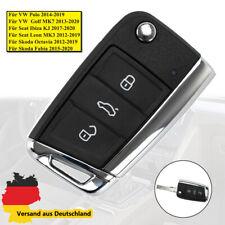 Boitier coque de clé plip 3 boutons Pour VW Golf VII 7, polo, Tiguan MK7 Passat