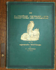1878 Raubvögel Deutschlands Falcon Oskar von Riesenthal 60 Chromolithographs