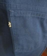 34x30 True Vtg 70's Levis Staprest Navy Blue Ribbed Bootcut Hippy Jeans Usa