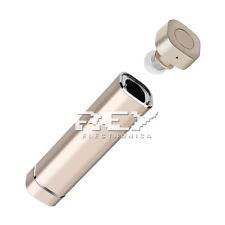 Mini Auricular Manos Libres Bluetooth 4.1 Dorado Tubo de Energía Portátil d286