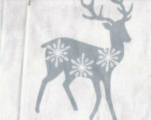 Flannel King Sheet Set Winter Reindeer 4pc Novelty Cottage Brown Gray Christmas