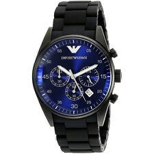 Emporio Armani AR5921 Sportivo Black Silicone Quartz Analog 43mm Men's Watch