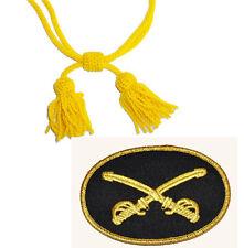 American Civil War Union Or Confederate Cavalry Wool Hat Cord & Sewn Badge