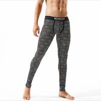 Seobean Men's Warm Pants Cotton Low Rise Fashion Long Johns Thermal Underwear