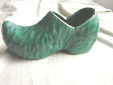 "Vintage 50s 60s Christmas Ceramic Boot Shoe Dutch Elf GREEN Cobbler 3x7"" GC"