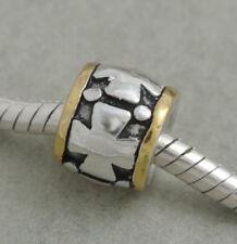 HANDMADE .925 SILVER EUROPEAN Charm Bead for Bracelet H47 PRAYER'S CROSS GOD