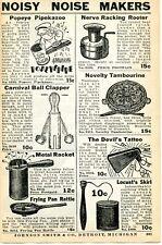 1935 Print Ad Noisy Noise Makers Popeye Pipekazoo, Locust Skirl, Devil's Tattoo