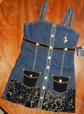 Denim Dress Jumper Baby Phat Girlz Girl size Large New