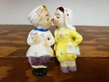 Mid Century Modern Kissing Couple Salt & Pepper Shakers made Japan