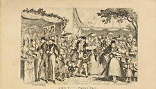 george cruikshank print 1837 . july - fancy fair