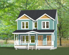 24x24 Duplex -- 2 Bedroom -- 2 Bath  1,086 sq ft -- PDF Floor Plan -- Model 5H