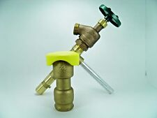 "3/4"" Quality Brass Quick Coupler Valve , Matching Key And Garden Hose Valve"