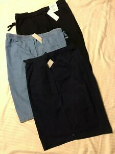 Croft&Barrow; Women elastic waist pull-on shorts w/pockets; Nvy,Blk,Blu; 2X,3X