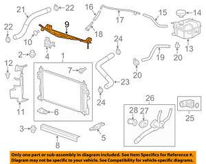 Chevrolet GM OEM 14-18 Impala 3.6L-V6 Radiator-Upper Baffle 23200187