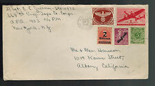1945 USA APO 205 Czechoslovakia Cover to Albany CA Multi Franked w/letter conten