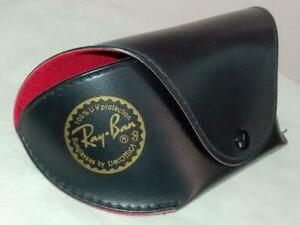 Ray Ban BLACK BOX CASE With Red Liner Sunglasses With belt CLIP & Clot