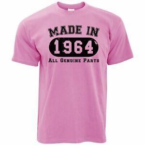 Anniversaire T-Shirt Fabriqué en 1964 Toutes les pièces d'origine