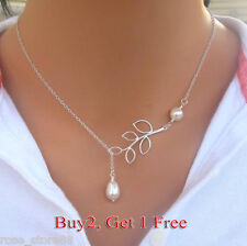 Fashion Jewelry Pearl Crystal Choker Chunky Statement Bib Pendant Chain Necklace