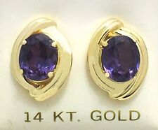 7.23 cts changing color ALEXANDRITE 14k Gold Earrings *FREE SHIPPING* 6.5 GRAMS