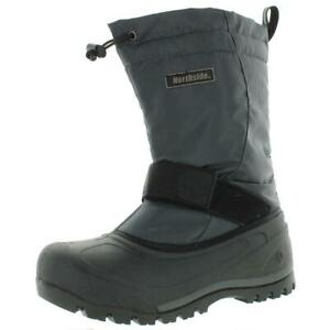 Northside Mens Gray Insulated Snow Boots Shoes 8 Medium (D) BHFO 7436