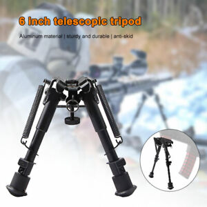 6'' Bipod Rifle Clamp Retractable Swivel Butterfly Telescopic / 20mm Connector