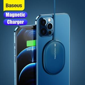 Baseus 15W Magnetic Wireles Fast Charging Charger Pad Silm For iPhone 12 Pro Max