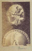 Parma Quadro Italia Vintage Albumina Piccolo Formato 5,7x9 CM